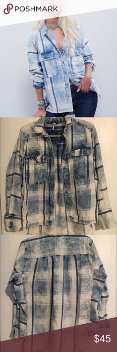 "Great Adventures Plaid Buttondown Slouchy boyfriend-style buttondown in a coveted love-worn plaid. Features oversized breast pockets. Perfect for an effortless half-tuck.  Free People  100% Cotton Machine Wash Cold Import Bust: 52.0"" = 132.08 cm Length: 27.0"" = 68.58 cm Sleeve Length: 24.5"" = 62.23 cm Free People Tops Button Down Shirts"