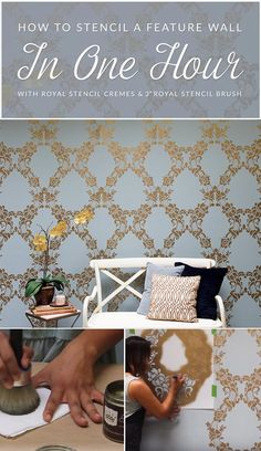 Wait!! Did we say you can stencil an accent wall in only any hour?? Yes we did, and yes you can! Learn how to paint a wallpaper look with a DIY video tutorial.