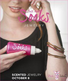 COMING SOON SNEAK PEEK! Pink Zebra Soaks Scented Jewelry