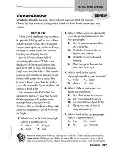 generalizing worksheet lesson planet 4th grade pinterest lesson planet worksheets and. Black Bedroom Furniture Sets. Home Design Ideas