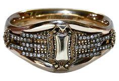 Gold-Filled Jeweled Hinged Bangle on OneKingsLane.com