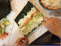 DIY cauliflower rice sushi! paleo, clean eating, low carb