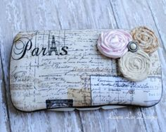 Vintage Paris Letters Boutique Style Travel Baby Wipe Case