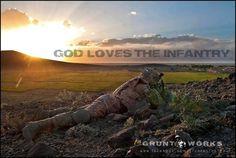 God loves the infantry.