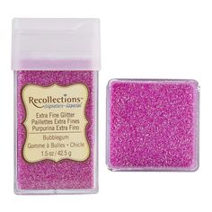 Recollections Signature Extra Fine Glitter, 1.5 oz. Bubble Gum