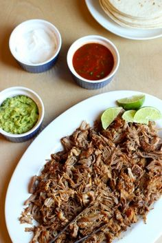 Slow Cooker Pork Tacos - Freeze up a bunch of this meat for quick tacos, rice bowls or even nachos