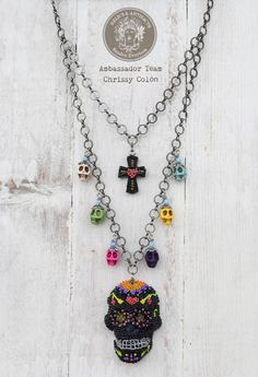 Calavera Necklace with RELICS & ARTIFACTS? Ambassador Chrissy Colon