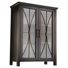 Elegant Home Fashions Delaney Floor Cabinet with 2 Doors - Dark Espresso