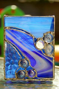 Stained Glass Candle Holder or Vase Beautiful by DianeMarieArt