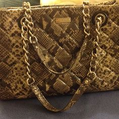 Kate Spade Goldcoast Snake Print Large size Beautiful bag, pre loved with only a few minor pen marks on the inside lining, clean inside and out otherwise.  kate spade Bags Totes