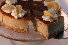 Banana & Baileys cheesecake - Tarta de queso, platano y Baileys.