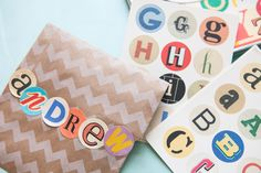 Colourful Letter & Number Sticker Set - Wedding in a Teacup