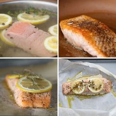 We prepared salmon four different ways and then taste-tested each to see which one came out on top. The stars of the show: poached salmon, pan-fried salmon, baked salmon, and parchment-wrapped salmon!