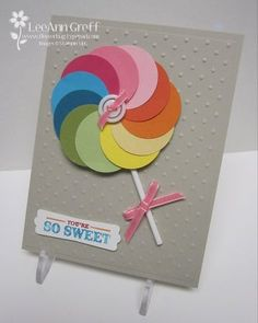"2/29/2012; LeeAnn Greff at 'Flowerbug's Inkspot' blog using 1-3/8"" circle punch; all SU products; how easy is this!!!"