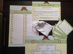 Kit 1 de jogos e brincadeiras de chá de bebê - tema ursinho pastel