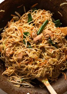 Chow Mein Chow Mein Noodles im Wok instantanées en pot Easy Chinese Recipes, Asian Recipes, Healthy Recipes, Ethnic Recipes, Healthy Foods, Noodle Sauce Recipe, Noodle Recipes, Soy Sauce, Rice Recipes