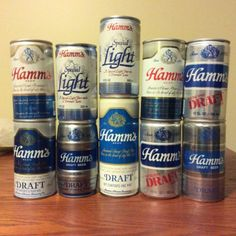 10 Hamm's Beer Can Lot Metal Aluminum Draft Light Regular - http://collectibles.goshoppins.com/breweriana/10-hamms-beer-can-lot-metal-aluminum-draft-light-regular/