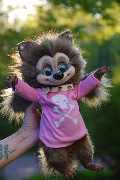 Winnie Werewolf Realistic toy by MonkeyBusinessToys. Fantasy Creatures toys & Mystical Stuffed Animals toys for collectibles and home decorations, Realistic beasts toys gifts