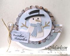 Marianne Design: Collectables Die Set - Eline's Snowman - A Paper Notion Die Cut Christmas Cards, Xmas Cards, Kids Christmas, Handmade Christmas, Marianne Design Cards, Snow Theme, Snowman Cards, Interactive Cards, Winter Cards
