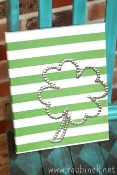 thumbtack shamrock canvas...