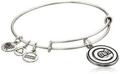 Continue reading Alex and Ani Chicago Cubs Cap Logo Expandable Bangle Bracelet at Jewelry.