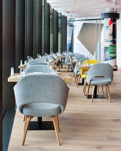 Saltz restaurant, Dolder Grand Hotel, Zurich - by Rolf Sachs Zurich, Rolf Sachs, Cool Restaurant, Grand Hotel, Interior Design Inspiration, Decoration, Dining Chairs, Landscape, Furniture