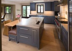 Kitchen Cabinets upgrade to Glide-Outs - contemporary - kitchen - detroit - Al Williams Industrial Kitchen Island, Kitchen Island With Sink, Modern Kitchen Island, New Kitchen, Kitchen Ideas, Kitchen Islands, Kitchen Cabinets Upgrade, Kitchen Upgrades, Design Your Kitchen