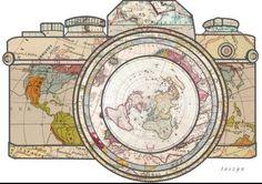 Ik heb hierover meer in mijn mail staan, en nog een andere (betere link). Naast de gewone kaartprojectie is de projectie die nu op de lens van deze camera staat ook een optie.