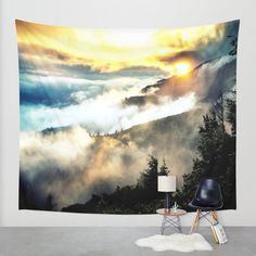 Wall Tapestry Tapestry Nature Tapestry Space by 2sweet4wordsDesigns
