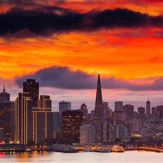 Fiery skies above San Francisco. Photo courtesy of anthonyquintano and wildbayarea on Instagram.