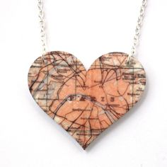 Sour Cherry - Paris Heart Map Pendant Necklace, $22.26 (http://www.sourcherry.co.uk/paris-heart-map-pendant-necklace/)