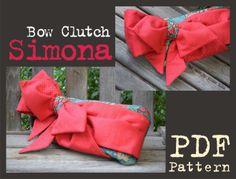 Bow Clutch Simona | YouCanMakeThis.com