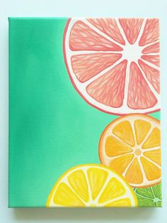 Colorful Wall art Bright wall art Fruit by DanielleContiArt