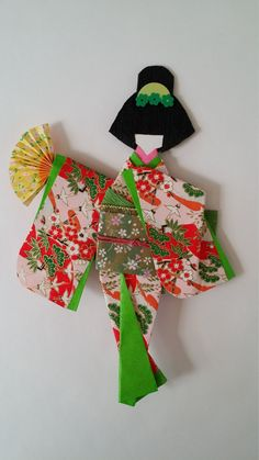 Washi Ningyo traditional Japanese Kimono paper by Kitspaperworld