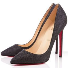 Cheap Christian Louboutin Women Outlet Pigalle 120mm Glitter Pumps Black $90.00.