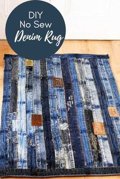 It is so easy to make a stunning denim rug for your home, using the most interesting part of a pair of jeans the waistband. The best part of this DIY is that it involves no sewing.