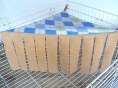 Checked Corner Cave/Curtain Hammock Guinea Pig Bed Ferret Chinchilla Rat