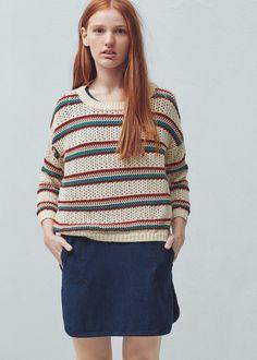 Jersey algodón rayas   MANGO