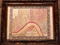 City of New Orleans Map Print of an 1864 Map on Parchment Paper. $8.50, via Etsy.