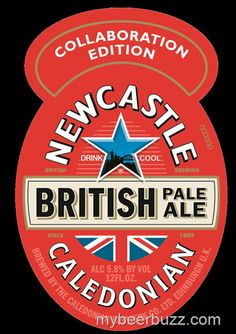 Newcastle British Pale Ale - Caledonian Collaboration: This collaboration fixes the flat/watery problems of Newcastle. A very drinkable bottle. English Beer, Newcastle Brown Ale, Beer Packaging, Design Packaging, British Beer, Beer Label Design, Beer Mats, Pin Up Posters, Beer Coasters