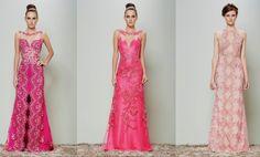 vestido de madrinha rosa pink