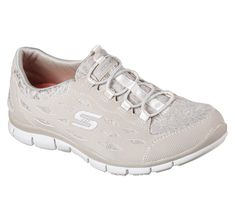 7f65bba6650c Add+some+pretty+detail+to+a+favorite+sporty+look+with+the+SKECHERS +Gratis+–+Chic+Craze+shoe.++Smooth+synthetic+nubuck-finish+synthetic+and+eyelet-woven+mesh  ...