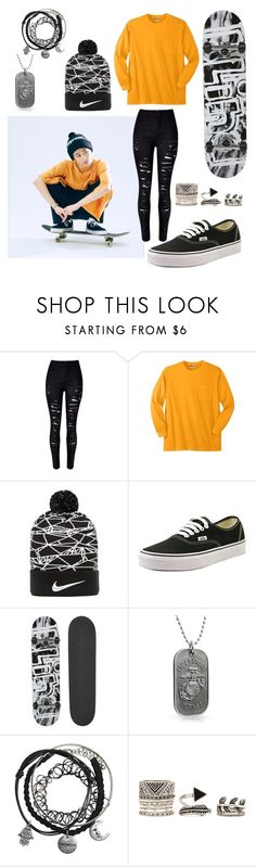 """""""Mark (NCT U) Debut Teaser Image"""" by catezovi ❤ liked on Polyvore featuring WithChic, NIKE, Vans, Blind, Bling Jewelry and Forever 21"""