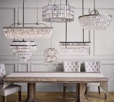 Clarissa Crystal Drop Round Chandelier - All For Decoration Pottery Barn Chandelier, Entryway Chandelier, Kitchen Chandelier, Rectangle Chandelier, Chandelier Lighting, Round Crystal Chandelier, Pottery Barn Lighting, Crystal Pendant Lighting, Glass Chandelier