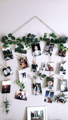 Quick and simple! DIY pictures and clothespin wall decor Quick and simple! DIY pictures and clothespin wall decor The post Quick and simple! DIY pictures and clothespin wall decor appeared first on Fotowand ideen. Cute Room Decor, Room Wall Decor, Diy Wall Decor, Flower Wall Decor, Home Decor, Images Murales, Family Tree With Pictures, Tree Collage, Exposition Photo