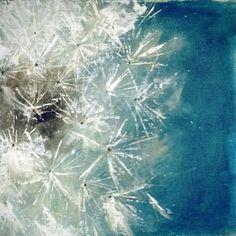 Original Acrylic Fine Art Painting Dandelion by chichiboulie, €95.00