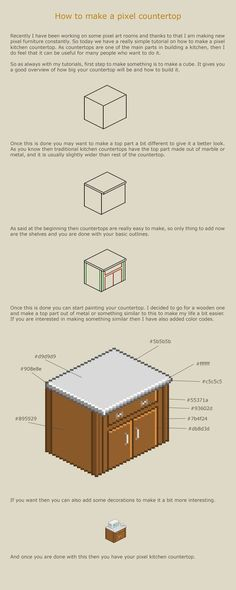 How to make a pixel countertop by vanmall on deviantART