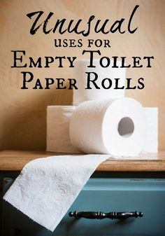 This list has some of my favorite unusual uses for empty toilet paper rolls like seed starters, wreaths, cord storage and more! Don't you love upcycling items you already have! 10 uses for empty toilet paper rolls Toilet Paper Roll Art, Rolled Paper Art, Toilet Paper Roll Crafts, Diy Projects To Try, Crafts To Make, Fun Crafts, Craft Projects, Craft Ideas, Diy Ideas