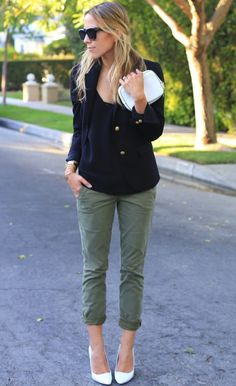 cami with sailor blazer and cuffed pants 2017
