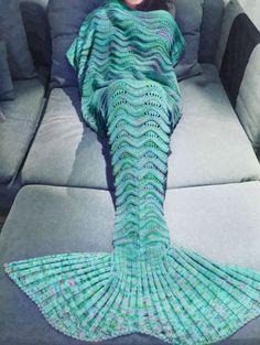 Super Soft Warm Hand-Crocheted Mermaid Tail Blanket Sofa Blanket ADULT Blankets in Home & Garden, Bedding, Blankets & Throws | eBay